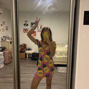 Lazy Oaf- Brand New Pineapple Mini Dress